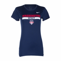 Women's Nike Washington Spirit Legend Crest Tee - Navy