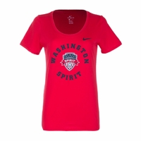 Women's Nike Washington Spirit Scoop Tee - Red