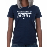 Women's Nike Washington Spirit Split Tee - Navy
