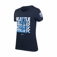 Women's Seattle Reign FC Chevron Crew Cotton Tee - Black