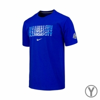 Youth FC Kansas City Chevron Crew Cotton Tee - Royal