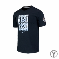 Youth Houston Dash Chevron Crew Cotton Tee - Black