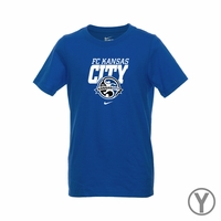 Youth Nike FC Kansas City Bold Tee - Game Royal