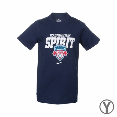 Youth Nike Washington Spirit Bold Tee - Navy - Click to enlarge