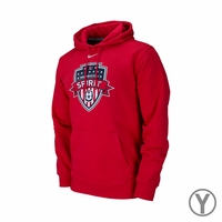 Youth Nike Washington Spirit Club Fleece Hoody - Red