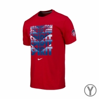 Youth Washington Spirit Chevron Crew Cotton Tee - Red