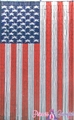 American Flag Patriotic Bamboo Painted Beaded Curtain