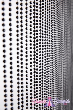 Ballchain Solid Black Beaded Curtain