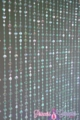 "Beaded Curtain ""Mackenzie"" - Iridescent  Mint Green- Flat Diamonds"
