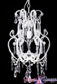 "Chandelier ""Cordelia"" Glamour  18"" x 12"" x 25"" - Single Bulb"