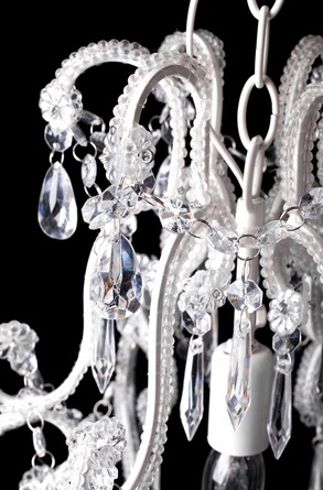 Crystal Chandelier with Single Light, Small Dressing Room ...:Chandelier
