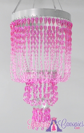 Chandelier Raindrops Pink