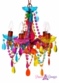 "Chandelier ""Samba"" - 5 Lights - Multi-Color Gypsy - 15 x 11"""