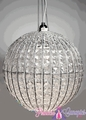 "Chandelier Sphere 14""   The Original  - Clear and Silver"
