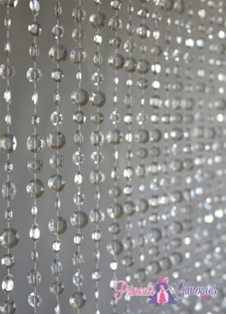Diamante Duo Large Bead Crystal Non-Iridescent Beaded Curtain