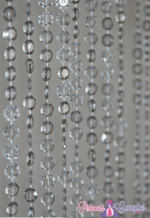 Diamonds Beaded Curtain - Smoke Grey