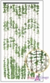 "FabuLush Fabric Flowers Curtain - Green & Cream - 35.5"" x 77"""