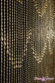 Raindrops Beaded Curtain Gold