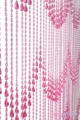 Raindrops Pink Non Iridescent  Beaded Curtain