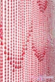 Raindrops Red Iridescent Beaded Curtain