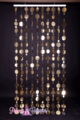 Retro PVC Metallic Gold Beaded Curtain - 8 feet long!