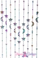 Stars & Moons Mardi Gras Celestial Beaded Curtain