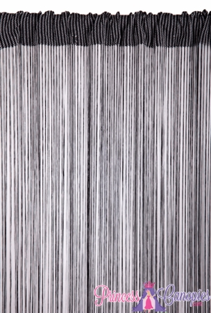 String Curtain Black & White 18 Strings Per Inch! - 36