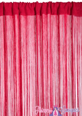 String Curtain  Cherry Red 36