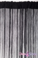 """String Curtain Rayon (Fire Rated) 36""""x88"""" Black"""