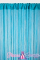 "String Curtain Rayon (Fire Rated) 36""x88"" Turquoise"