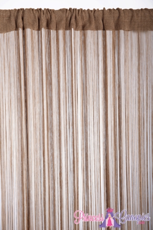 String Curtain Taupe 18 Strings Per Inch! - 36