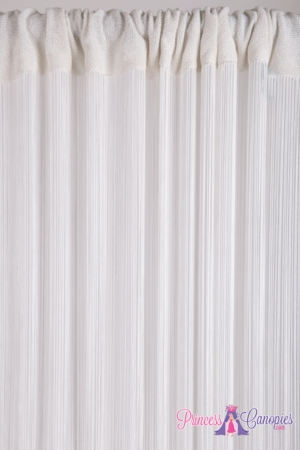 String Curtain White 36