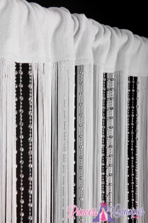 String & Sparkling Bead Mix Curtain 36