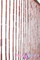 "Wooden & Bamboo Bead Curtain - Luca - 35.5"" x 70"" - 27 Strands"