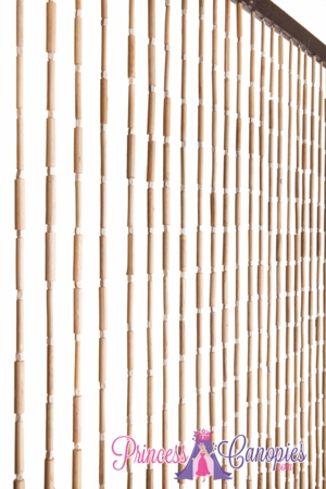 Wooden & Bamboo Bead Curtain - Shelley - 35.5