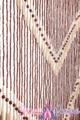 "Wooden Bead Curtain - Kenya -  35.5"" x 77"" - 52 Strands"