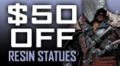 $50 OFF Reins Statues!