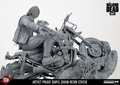 Daryl Dixon (Unpainted Artist Proof) Resin Statue McFarlane Collectors Club Exclusive