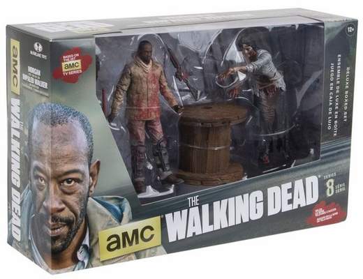 McFarlane The Walking Dead TV Series Morgan with Impaled Walker & Spike Trap Deluxe Box