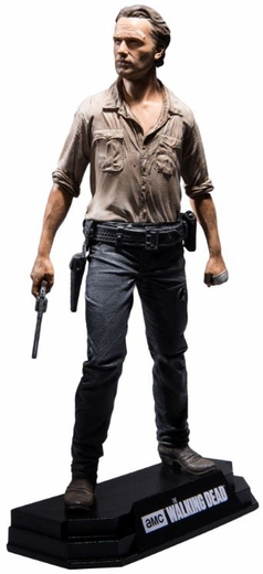 """Rick Grimes (The Walking Dead TV) 7"""" Figure McFarlane Collector Edition Color Tops Series - Red"""