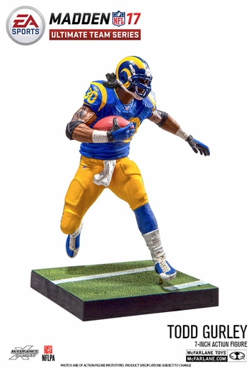 Todd Gurley (Los Angeles Rams) EA Sports Madden NFL 17 Ultimate Team Series 1 McFarlane