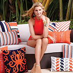 Accessorize your outdoor escape with luxury outdoor pillows by Elaine Smith. Diverse styles and patterns.