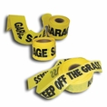 "100' X 3"" No Trespassing Yellow Safety Tape - #209-825"