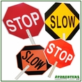 "18"" Dia. 79"" Long X 1-1/2 Dia. Stop/Slow Traffic Sign. Part #7550"