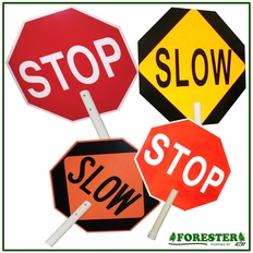"""18"""" X 18"""" - Stop/Slow Road Sign #9553"""