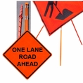 "Forester 48"" Vinyl Professional Grade Work Sign - One Lane Road"