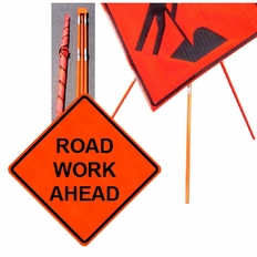 """Forester 48"""" Vinyl Professional Grade Work Sign - Road Work Ahead"""