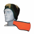Camo/Blaze Orange Fleece Head Band #22326