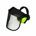 Forester Face & Hearing Protection Combo: Black / Safety Green Muffs - #Woodys856pksg