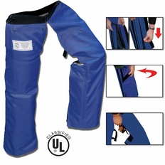 Forester Zipper Style Chainsaw Chaps - Blue